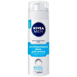 Nivea Men, 200 мл, Піна для гоління, Охолоджуюча, Для чутливої шкіри