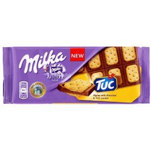 Milka, 87 г, Молочний шоколад, TUC