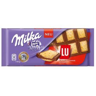Milka, 87 г, Молочный шоколад, LU