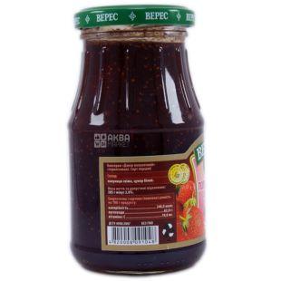Veres, 385 g, Jam, Strawberry, glass