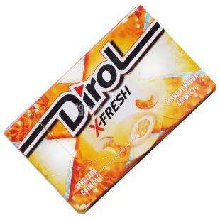 Dirol, 18 g, Chewing Gum, X-Fresh, Tangerine Freshness