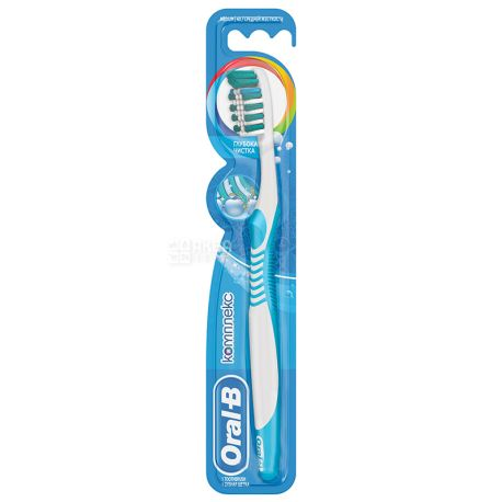 Oral-B, 1 шт., Средняя, Зубная щетка, Комплекс, Глубокая чистка