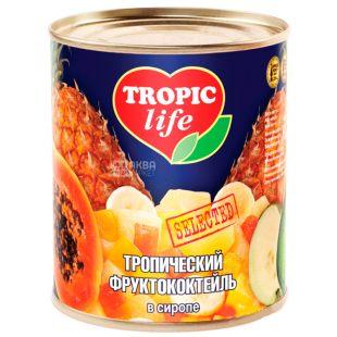 Tropic Life, 425 г, Тропічний фруктококтейль, В сиропі