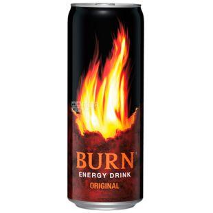 Burn, Упаковка 6 шт. по 0,25 л, Напій енергетичний, Original, ж/б