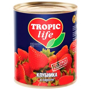 Tropic Life, 410 g, Strawberry, In syrup