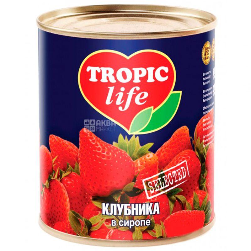 Tropic Life, 410 г, Клубника, В сиропе