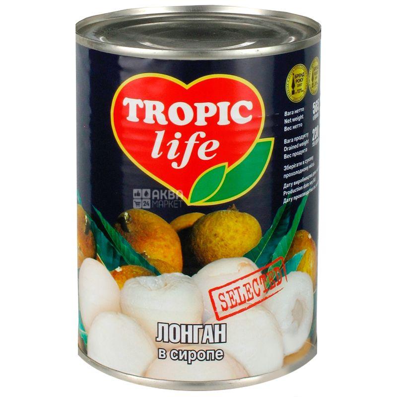 Tropic Life, 565 г, Лонган, В сиропе
