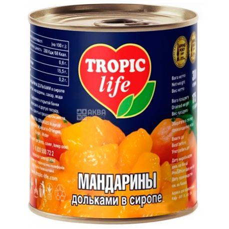 Tropic Life, 300 г, Мандарины, Дольками в сиропе