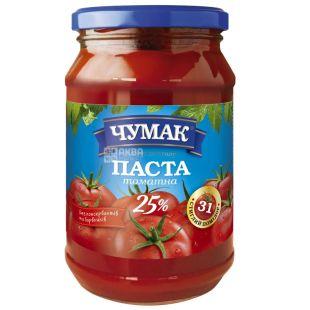 Chumak, 350 g, Tomato Paste, 25%, glass