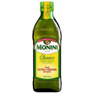 Monini, 500 ml, Olive oil, Сlassico Extrara virgine oil, glass