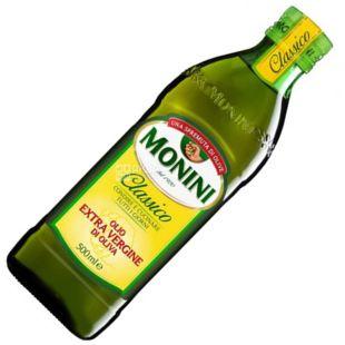 Monini, 500 ml, Olive oil, Сlassico Extrara virgine oil, glass