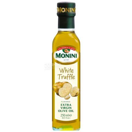 Monini, 250 мл, Масло оливковое с белым трюфелем, White Truffle Еxtra virgine oil, стекло
