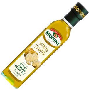 Monini, 250 ml, Olive oil with white truffle, White Truffle Extrara virgine oil, glass