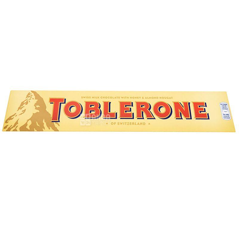 Toblerone, 100 г, Молочный шоколад, С нугой из меда и миндаля