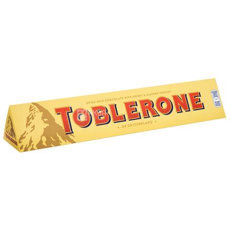 Toblerone, 100 г, Молочний шоколад, З нугою з меду та мигдалю
