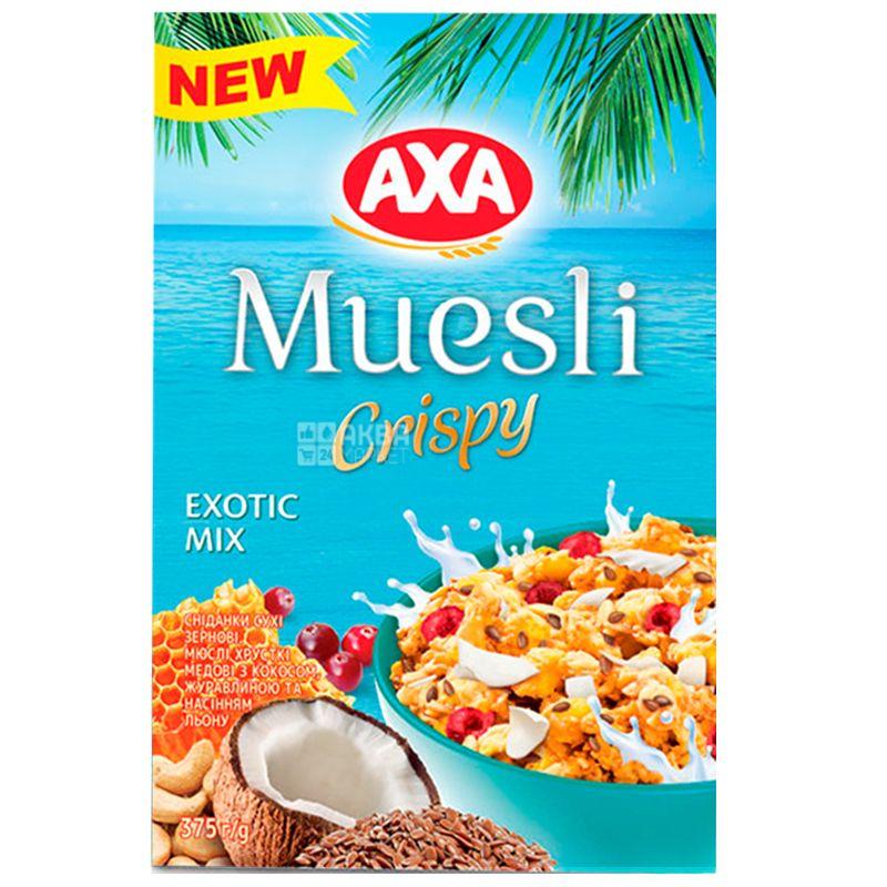 AXA, 375 г, Мюсли, Crispy, Exotic Mix
