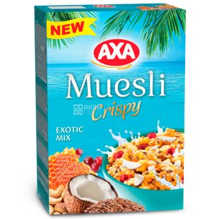 AXA, 375 г, Мюсли, Crispy, Exotic Mix
