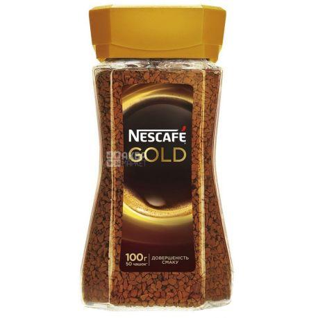 Nescafe Gold, Кофе растворимый, 100 г, Стекло