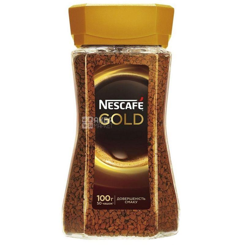 Nescafe Gold, Instant coffee, 100 g, Glass