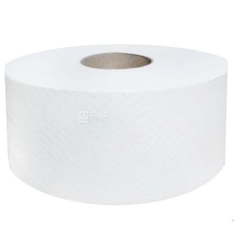 Джамбо, 1 рул., Туалетная бумага, Двухслойная, Белая