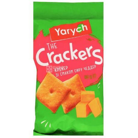 Yarich, 80 г, Крекер, Зі смаком сиру Чеддер