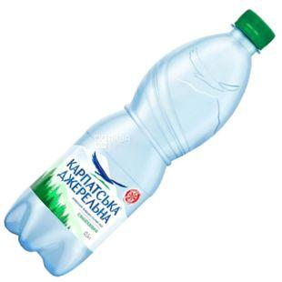Карпатська Джерельна, 0,5 л, Вода минеральная слабогазированная, ПЭТ