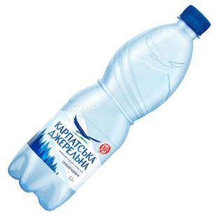 Карпатська Джерельна сильногазована вода, 0,5 л, Мінеральна, ПЕТ