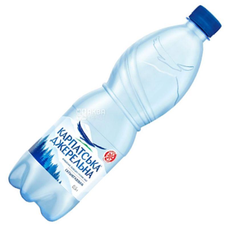 Карпатська Джерельна, 0,5 л, Вода минеральная сильногазированная, ПЭТ