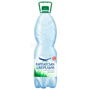 Carpathian Source 2 liter, Slabogasovaya water, Mineral, PET, PAT