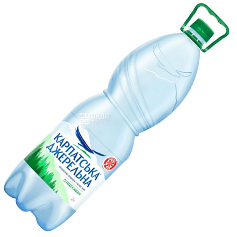 Carpathian Source 2 liter, Slabogasovaya water, Mineral, PET, PAT