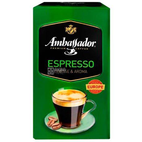 Ambassador Espresso, 225 г, Кофе молотый Амбассадор Эспрессо