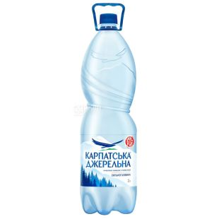 Carpathian Dzherelna, 2 l, Highly carbonated water, Mineral, PET, PAT