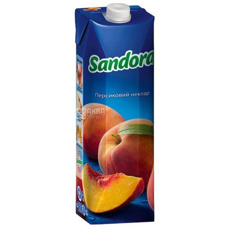 Sandora, Персиковый, 0,95 л, Сандора, Нектар натуральный