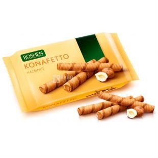 Roshen, 156 g, Wafer rolls with nut filling, Konafetto