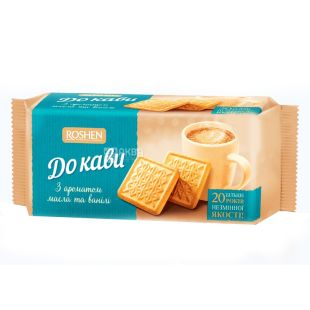 Roshen, 185 g, Cookies with the taste of butter and vanilla, K coffee