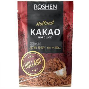 Roshen, Holland, Какао-порошок, 20-22%, 100 г