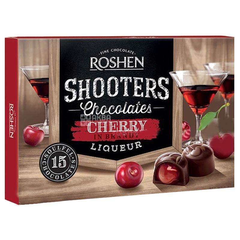 Roshen, 150 г, Конфеты, Вишня с вишневым ликером, Shooters