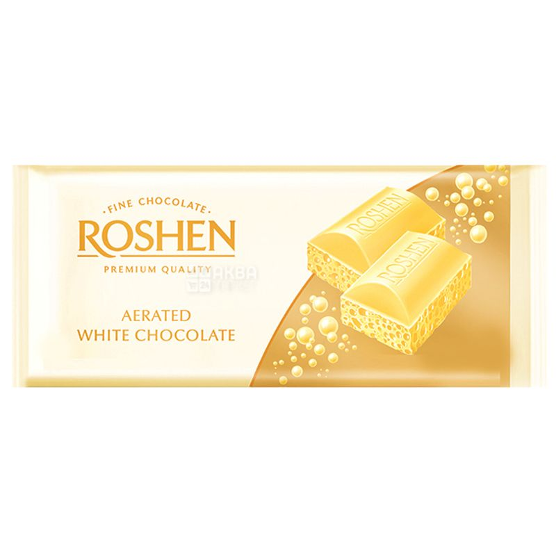 Roshen, 85 г, Шоколад белый, Пористый