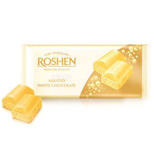Roshen, 85 g, White Chocolate, Porous