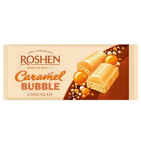 Roshen, 85 г, Шоколад белый пористый, Карамельный