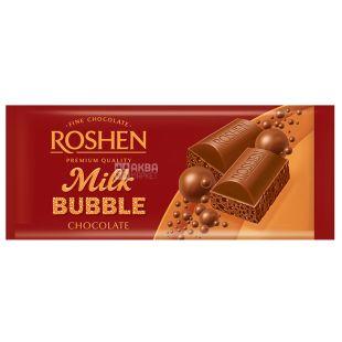 Roshen, 85 г, Шоколад молочний, Пористий