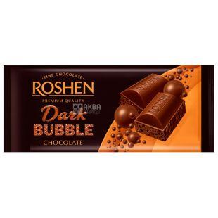 Roshen, 85 г, Шоколад екстрачорний, Пористий