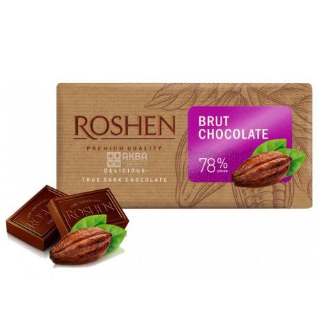 Roshen, 90 г, 78% , Шоколад черный, Брют