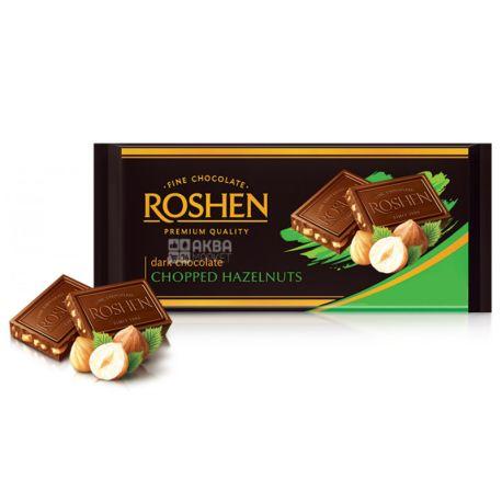 Roshen,  90 г, 56%, Шоколад черный, С измельченным лесным орехом