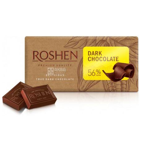 Roshen, 90 г,  56%, Шоколад черный