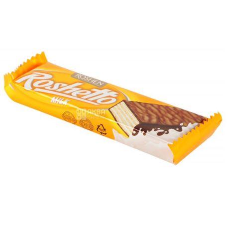 Roshen, 32 г, Вафельний батончик, Молочний шоколад, Roshettо