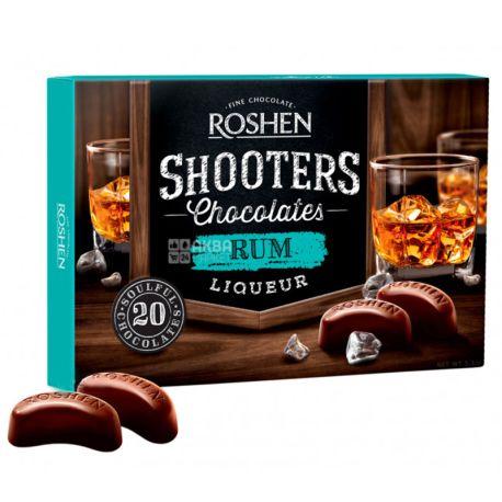 Roshen Shooters, 150 г, Конфеты, C ромовым ликером