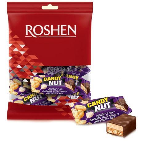Roshen, 160 г, Конфеты с карамелью, арахисом и хрустящим рисом, Candy Nut, м/у