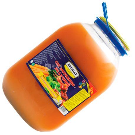 Holiday, 3 л, Сік, Морквяно-яблучний, скло