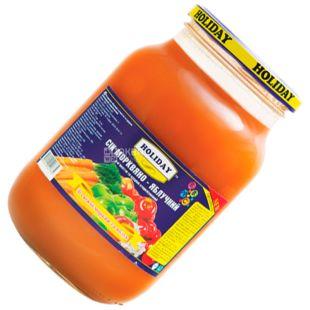 Holiday, 1 л, Сік, Морквяно-яблучний, скло